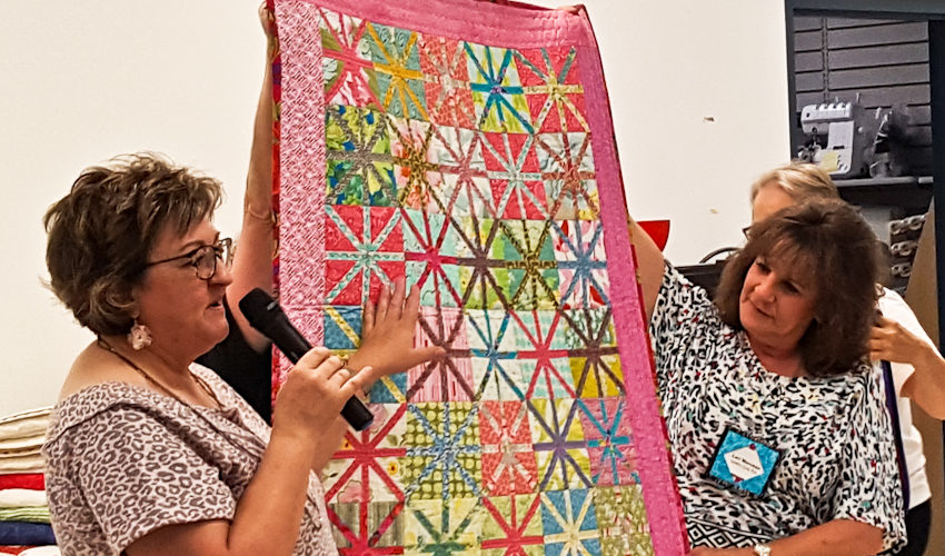 KLQ August Meeting Quilts With Stash Bandit